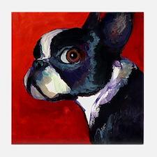 Boston Terrier dog #5 - Tile Coaster