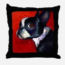 Unique Dog boston terrier are in the fight against Throw Pillow