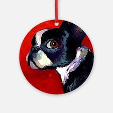 Boston Terrier dog #5 - Ornament (Round)