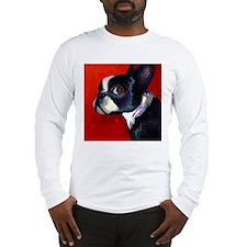 boston terrier 2 SQUARE Long Sleeve T-Shirt