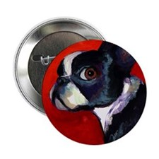 "Boston Terrier dog #5 - 2.25"" Button"