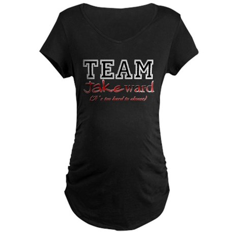 Team Jakeward Twilight Gifts Maternity Dark T-Shir