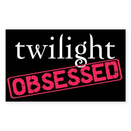 Twilight Obsessed Rectangle Sticker