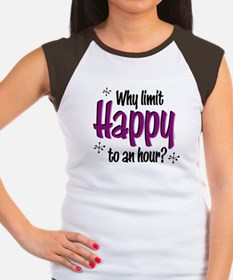 Limit Happy Hour? Women's Cap Sleeve T-Shirt