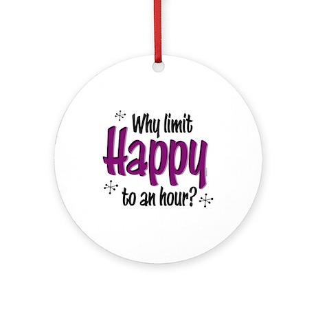 Limit Happy Hour? Ornament (Round)