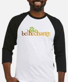 Be the change - Earthy - Floral Baseball Jersey