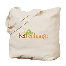 Be the change - Earthy - Floral Tote Bag