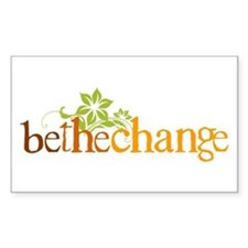 Be the change - Earthy - Floral Decal