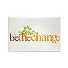 Be the change - Earthy - Floral Rectangle Magnet