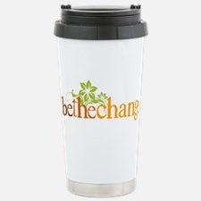 Be the change - Earthy - Floral Travel Mug