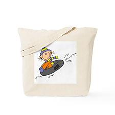 Snow Tubing Tote Bag