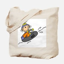 Snow Tubing Tote Bag