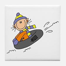 Snow Tubing Tile Coaster