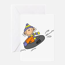 Snow Tubing Greeting Card