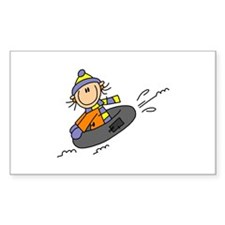 Snow Tubing Rectangle Decal