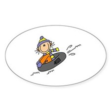 Snow Tubing Oval Decal