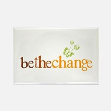 Be the change - Earthy - Butterflys Rectangle Magn