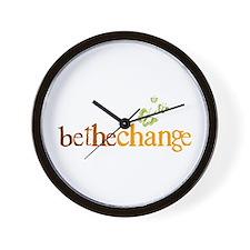 Be the change - Earthy - Butterflys Wall Clock