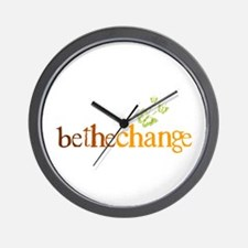 Be the change - Earthy - Butterflys Wall Clock