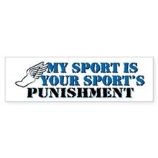Running - Punishment Bumper Sticker
