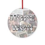Hope Won Ornament (Round)