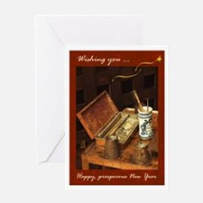 Artist, new year, love - Greeting Card