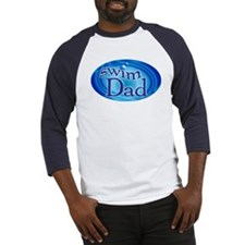 Swim Dad Baseball Jersey