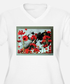 Audrey in Poppies T-Shirt