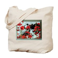 Audrey in Poppies Tote Bag