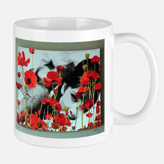 Audrey in Poppies Mug