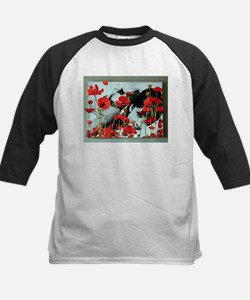 Audrey in Poppies Kids Baseball Jersey