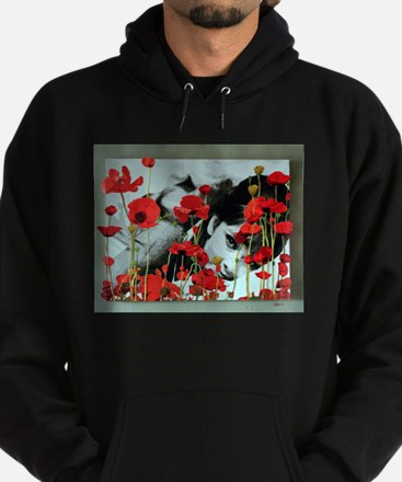 Audrey in Poppies Hoodie (dark)