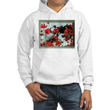 Audrey in Poppies Hoodie Sweatshirt
