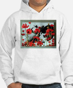 Audrey in Poppies Hoodie Sweatshirt