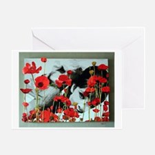 Audrey in Poppies Greeting Card