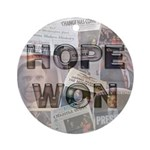 Hope Won Ornament (Round)