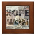 Hope Won Framed Tile