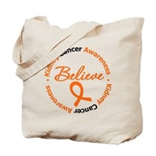 Kidney Cancer Believe Tote Bag