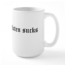gluten sucks Large Right Hand Mug