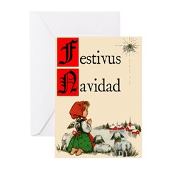 "Vintage ""Festivus Navidad"" Cards (10 pk)"