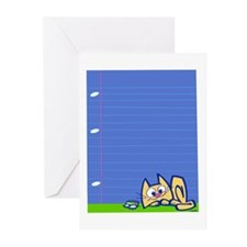 kitty bug Greeting Cards (Pk of 10)