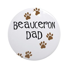 Beauceron Dad Ornament (Round)