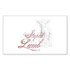 Stupid Lamb Twilight Dialog Tag Line Decal