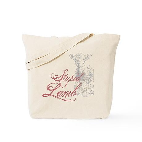 Stupid Lamb Twilight Dialog Tag Line Tote Bag