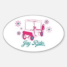 Ladies Golf Joy Ride Oval Decal
