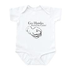 Hawks Pound 'Cocks Infant Bodysuit