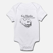 Hawks Pound 'Cocks Infant Bodysuit