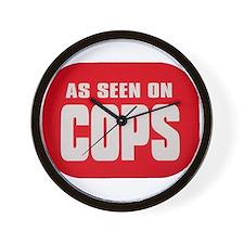 As Seen On Cops Wall Clock