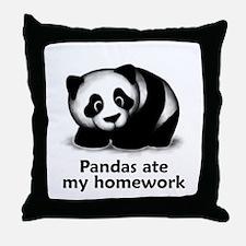 Pandas ate my homework Throw Pillow