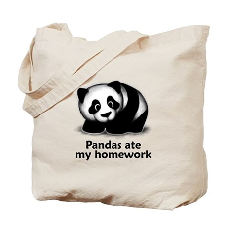 Pandas ate my homework Tote Bag